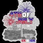 Fourth of July 5K & 10K registration logo