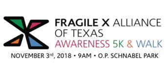 Fragile X Awareness 5K and Walk registration logo