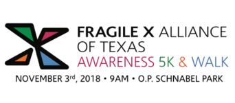 Fragile X Awareness 5K and Walk registration logo