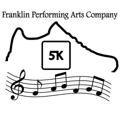 Franklin Performing Arts Company 5K and 1 Mile Fun Run registration logo