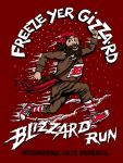 Freeze Yer Gizzard Blizzard Run registration logo
