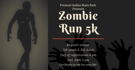 Fremont Zombie Run 5k registration logo