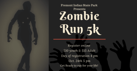 Fremont Zombie Run 5k registration logo
