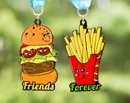 Friends Forever 5K - You Are the Burger to My Fries registration logo