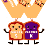 Friends Forever 5K - You are the peanut butter to my jelly registration logo