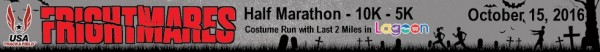 Frightmares Lagoon Half Marathon 10K 5K registration logo