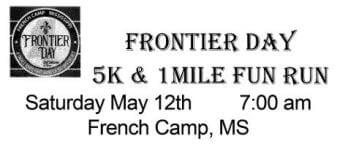 Frontier Day 5K & 1 mile Fun Run registration logo
