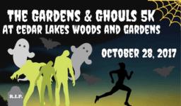 Gardens and Ghouls 5K registration logo