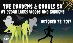 Gardens and Ghouls 5K registration logo