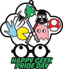 Geek Pride Day 1M 5K 10K 13.1 26.2 registration logo