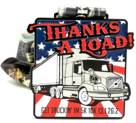 Get Truckin 1M 5K 10K 13.1 26.2 - Thanks a Load registration logo