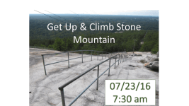 Get Up & Climb Stone Mountain  registration logo