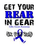 GET YOUR REAR IN GEAR 5K FUN RUN registration logo