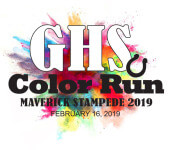 GHS Color Run Maverick Stampede registration logo