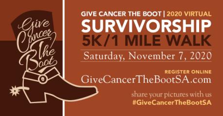 Give Cancer the Boot Survivorship 5K & 1 Mile Walk registration logo