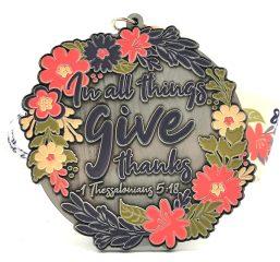Give Thanks 1M 5K 10K 13.1 26.2 registration logo