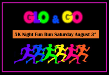 Glo & Go 5K Night Fun Run registration logo