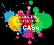 Glow the Distance 5K for CASA registration logo