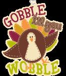 Gobble Til You Wobble 1 Mile, 5K, 10K, 13.1, 26.2 registration logo