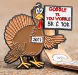 Gobble Til You Wobble  5K 10K registration logo