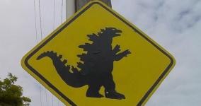 Godzilla 5k cup registration logo