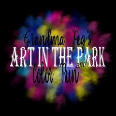Grandma Peg's Art Auction and Color Run registration logo