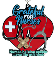Grateful for Nurses 1M 5K 10K 13.1 and 26.2 registration logo