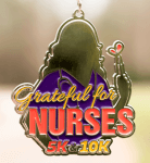 Grateful for Nurses 5K and 10K - Clearance from 2018 registration logo