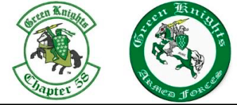 Green Knights Benefit Ride registration logo