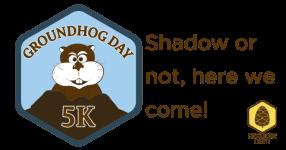 Groundhog Day 5K registration logo
