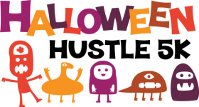 Halloween Hustle 5k registration logo