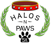 Halos-n-Paws 5K registration logo