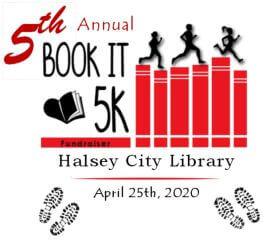 Halsey Library BOOK-IT 5K Fundraiser registration logo