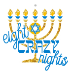 Happy Hanukkah 8K - Eight Crazy Nights registration logo