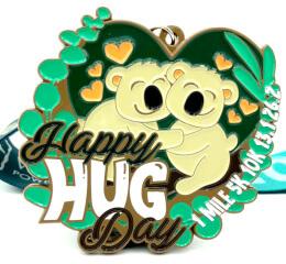 Happy Hug Day 1M 5K 10K 13.1 26.2 registration logo