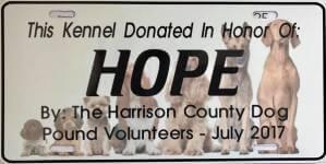 Harrison County Dog Pound Donation 5K registration logo