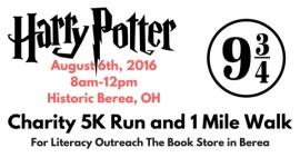 Harry Potter Charity 5K Run and 1 Mile Walk registration logo