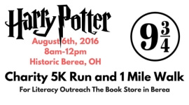 Harry Potter Charity 5K Run and 1 Mile Walk registration logo