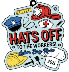 Hats Off to the Workers Labor Day Race registration logo