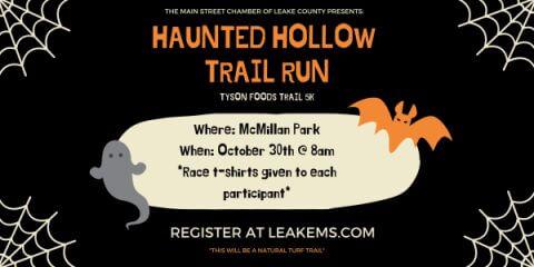 Haunted Hollow Trail Run registration logo