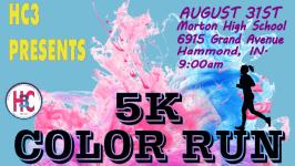 HC3 5K Color Run registration logo