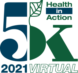 Health in Action 5K registration logo