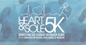 Heart & Sole 5k and 1 Mile Run April 20th registration logo
