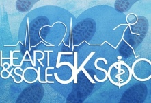 Heart & Sole 5k and 1 Mile Run April 22 registration logo