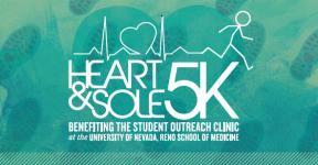 Heart & Sole 5k and 1 Mile Run April 22 registration logo