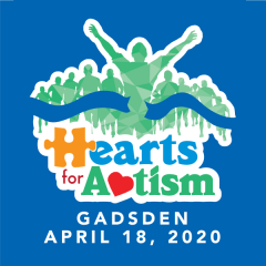 Hearts for Autism - Gadsden registration logo