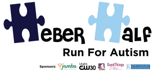 Heber Half - Run For Autism registration logo