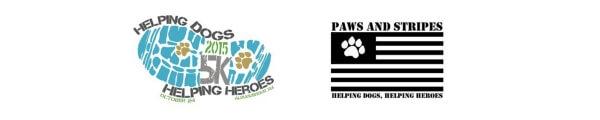 Helping Dogs Helping Heroes 5k Trail Run registration logo