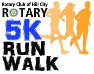 Hill City Rotary 5k Run/Walk registration logo