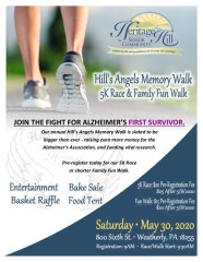 Hill's Angel's Memory Walk and 5k registration logo